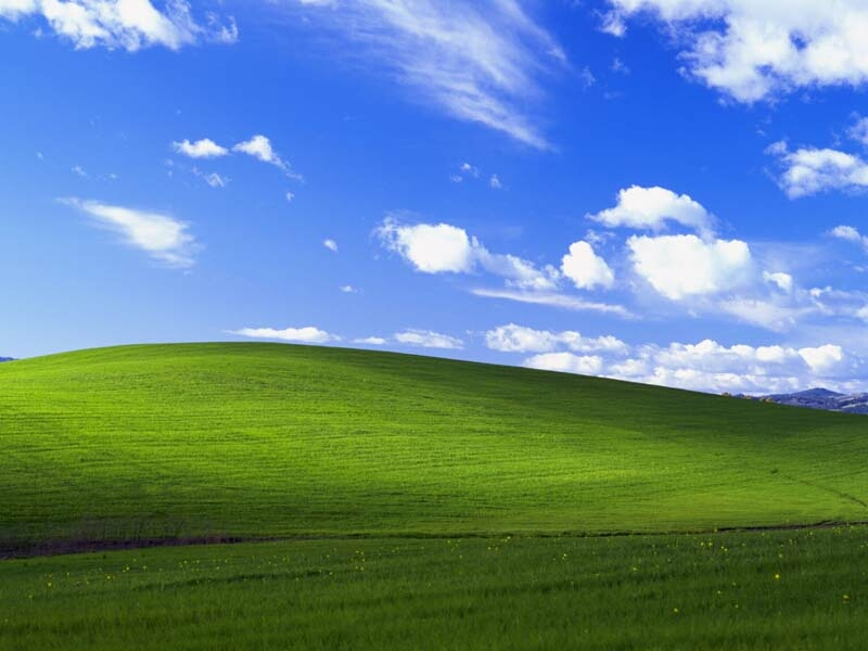 The Origin Of The Microsoft's Windows XP Default Wallpaper